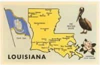 Louisiana State Map