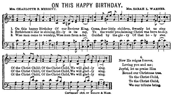 On This Happy Birthday sheet music