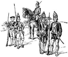 British and Hessian Soldiers.