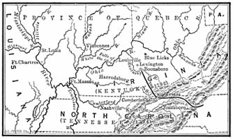Early Settlements in Kentucky and Tennessee