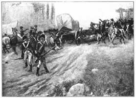 Marion Surprising a British Wagon-Train.