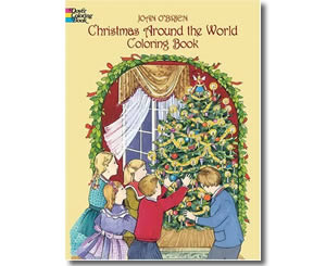 Christmas Books for kids - Christmas Around the World Coloring Book