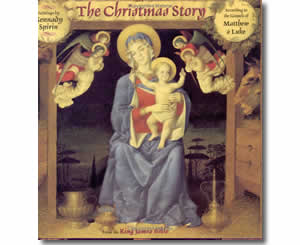 Religious Christian Christmas Books for kids - The Christmas Story: According to the Gospels of Matthew and Luke from the King James Version