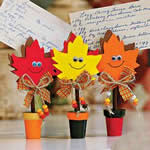 Fun kids fall crafts fall leaves recipe holder craft kit for Leaf crafts for adults