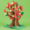 Standing Fall Tissue Tree craft kit