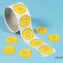 Gelt Gold Coin Stickers