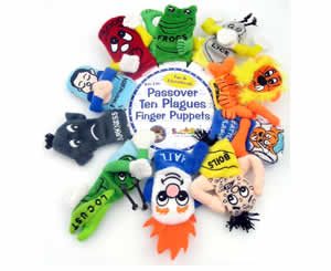Jewish Passover Puppets for kids - Children's puppets of the 10 Plagues