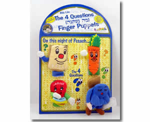 Jewish Passover Puppets for kids - Children's puppets of the four questions