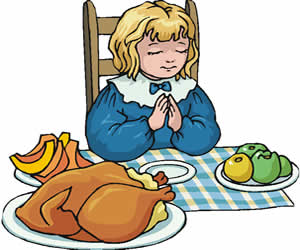 Before Meals - Prayers of Thanksgiving for children