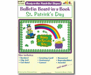 St. Patrick's Day Bulletin Board-in-a-Book- St. Patricks Books for Kids