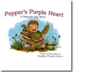 Pepper's Purple Heart:A Veterans Day Story - Veterans Day Books for Kids