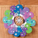 Foam Mitten Wreath Craft