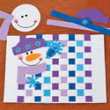 Snowman Weaving Craft Kit